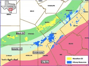 Marathon Oil Eagle Ford Shale Map
