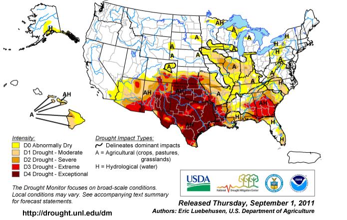 Texas Drought Map