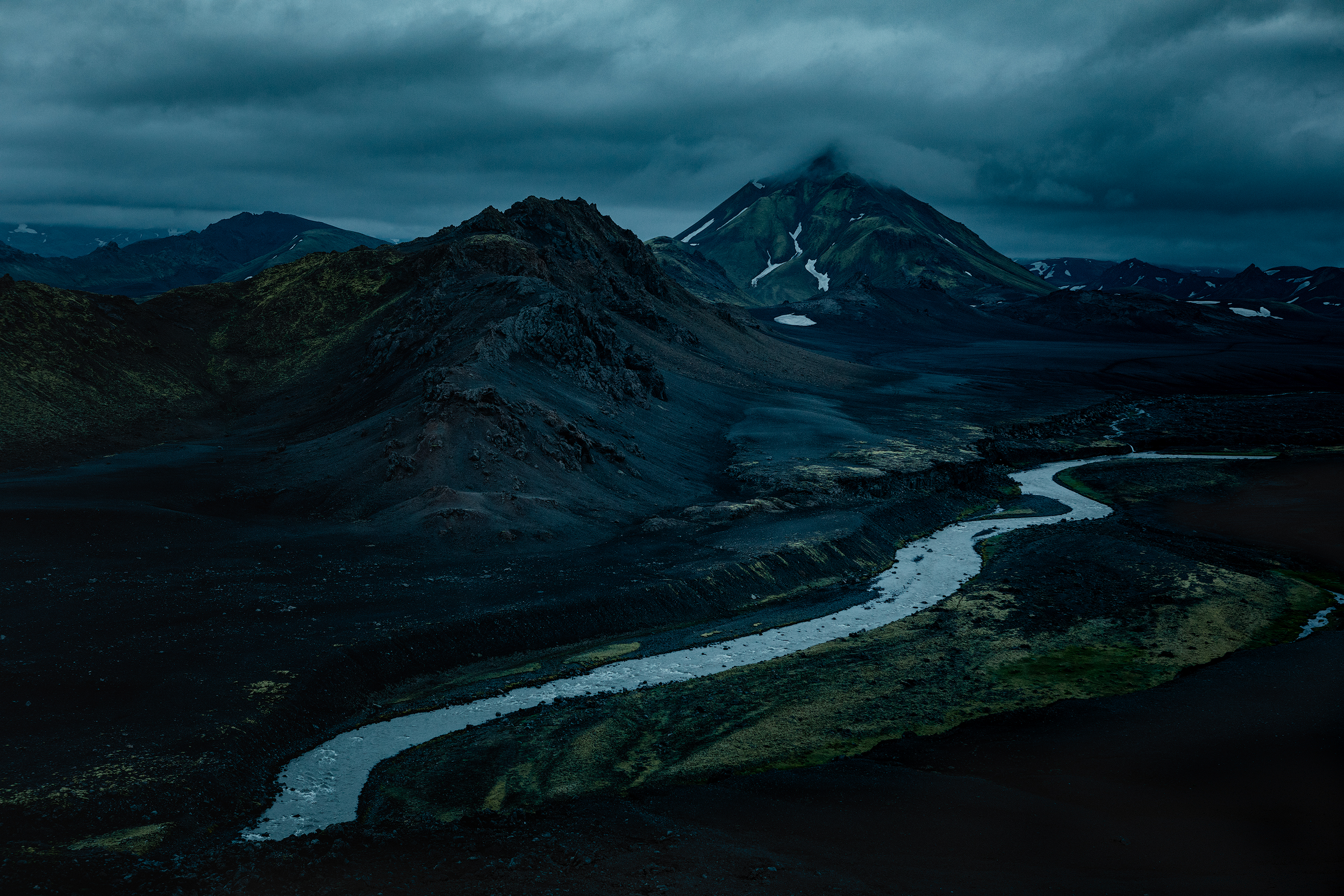 View of Stórasúla mountain in the Suðurland region of Iceland's Highlands