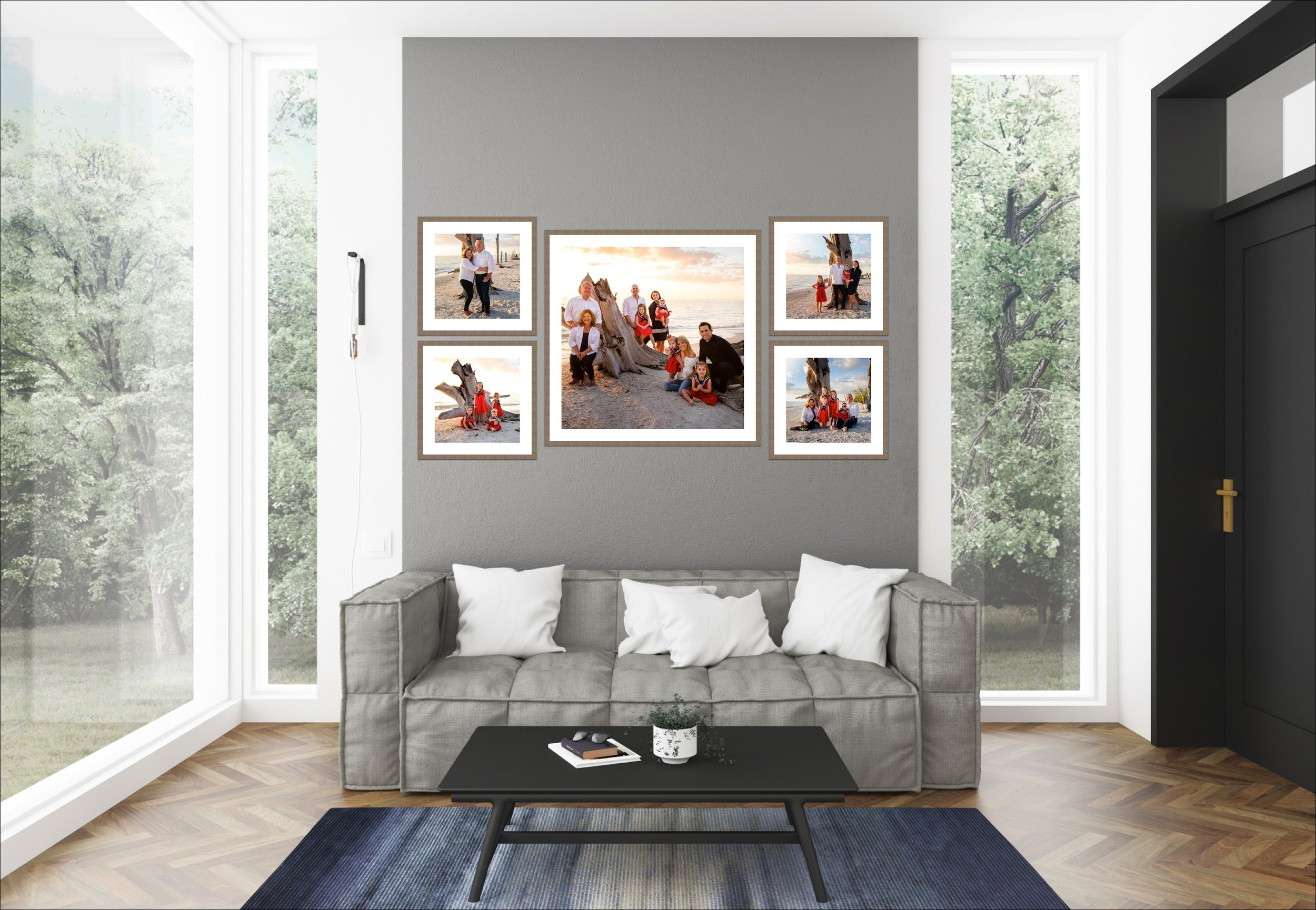 Framed Collections - We give you the ability to have museum quality framing and art matte in your home. Our framed collections can be customized to your space and arrive ready to be hung on your wall.