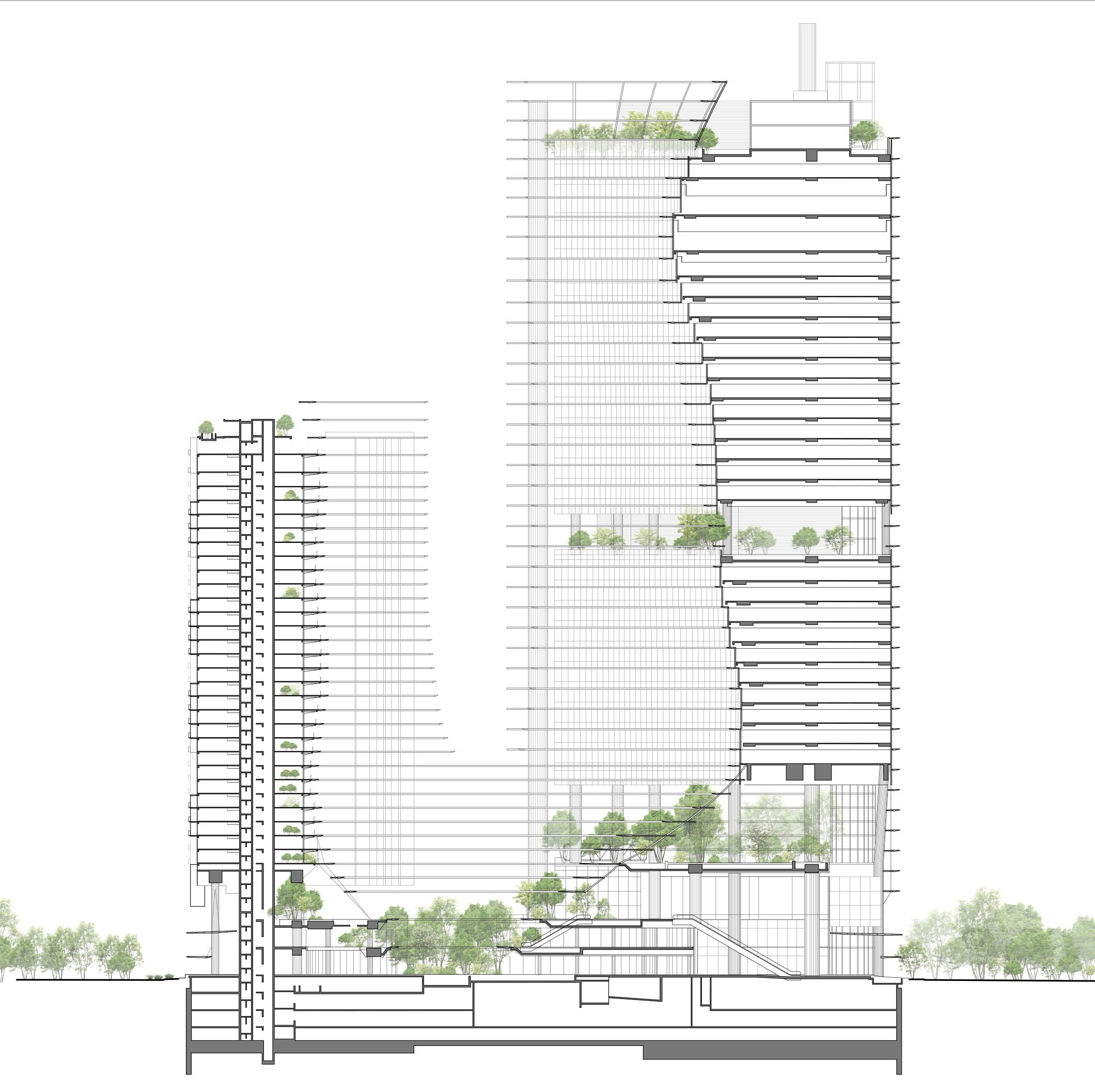 © Elevation - Ingenhoven Architects