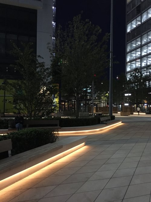 Endeavour Square at night