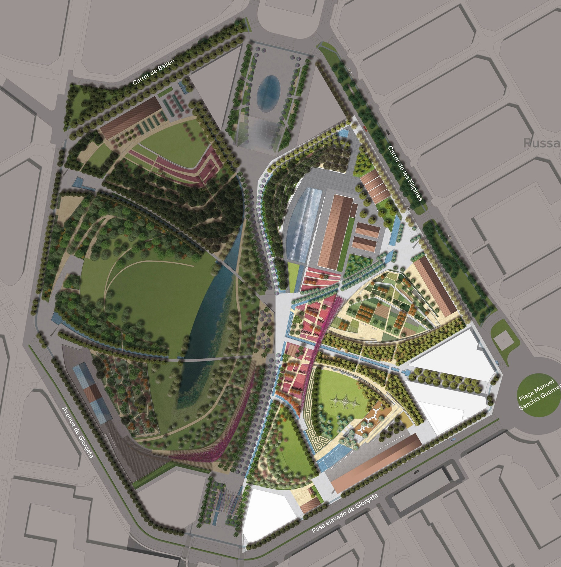 First phase shown within entire design for Valencia Parque Central