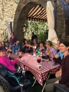 Group dinner on the Camino retreat