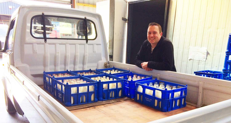Rob Davies from Brecon Milk, Powys