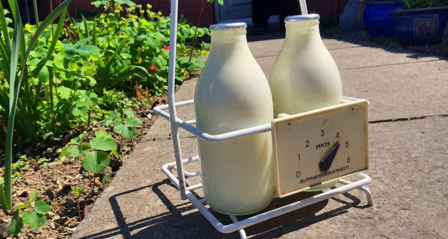 Fresh milk delivery in Brecon, Powys, Wales