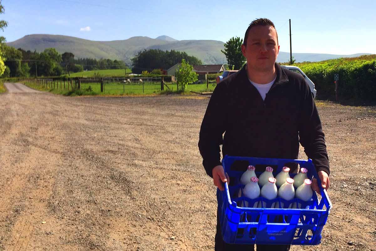 Rob Davies of Brecon Milk, Powys, Wales