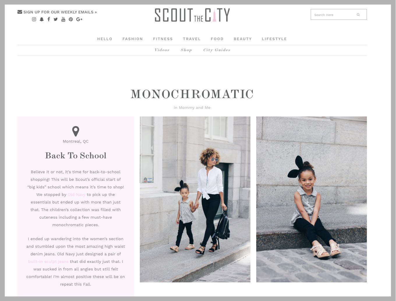 SCOUT THE CITY : London Scout in FLYAWAY headband in NOIR : Back to School Sept/2016