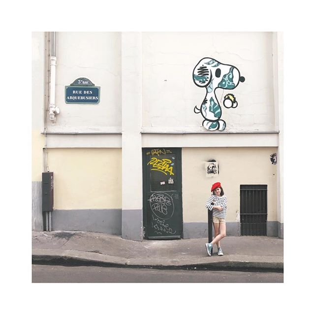 advenтυreѕ oғ тнe red вereт ❤️ #parisgraffiti . . . . . . . #sidnyc #graffiti #paris #snoopy #coolkids