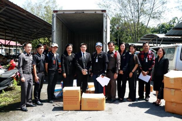 The Medical Cannabis Research Team of Rangsit University received 40kg of marijuana at the Office of the Narcotics Control Board last June