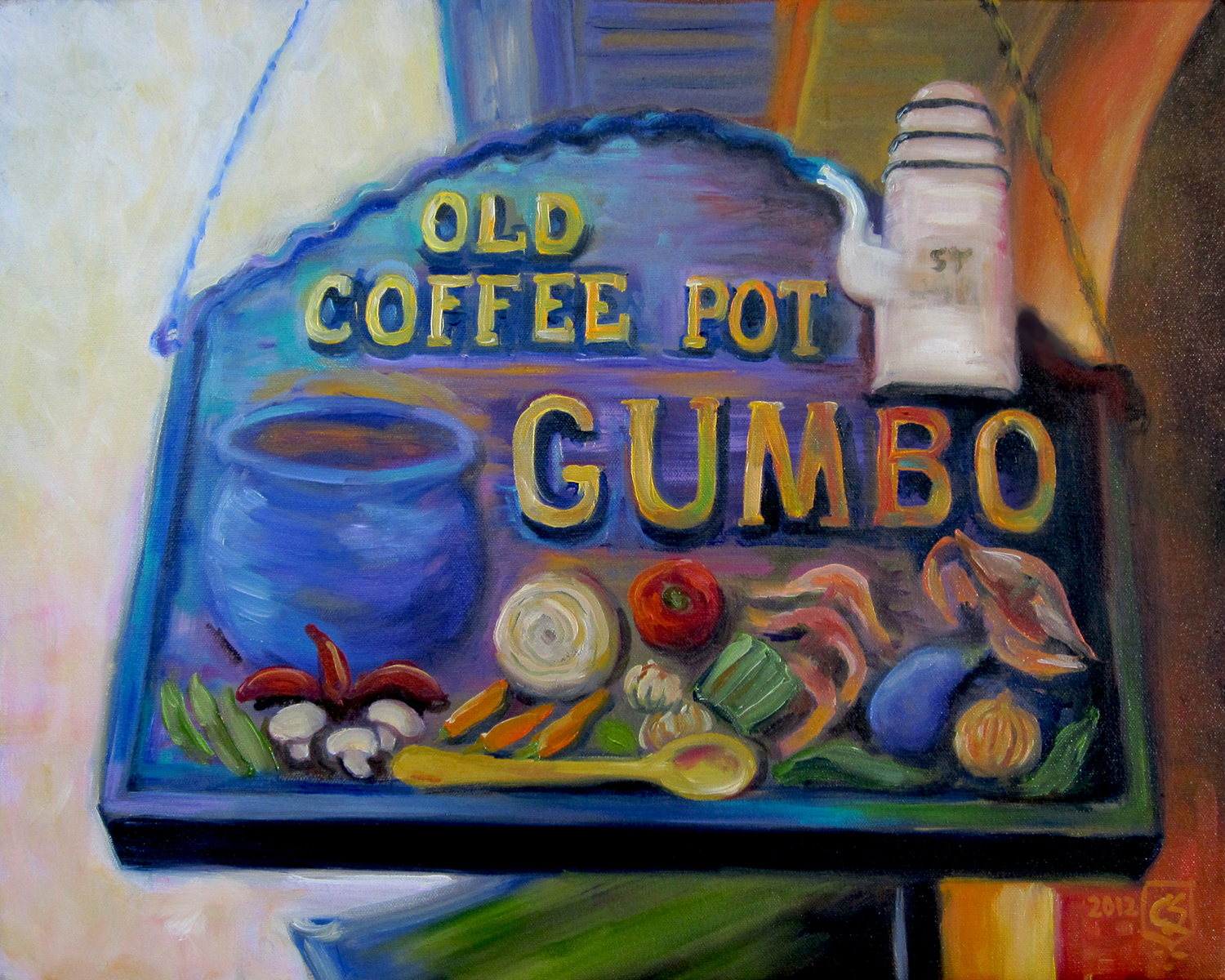 New Orleans, Old Coffee Pot Sign