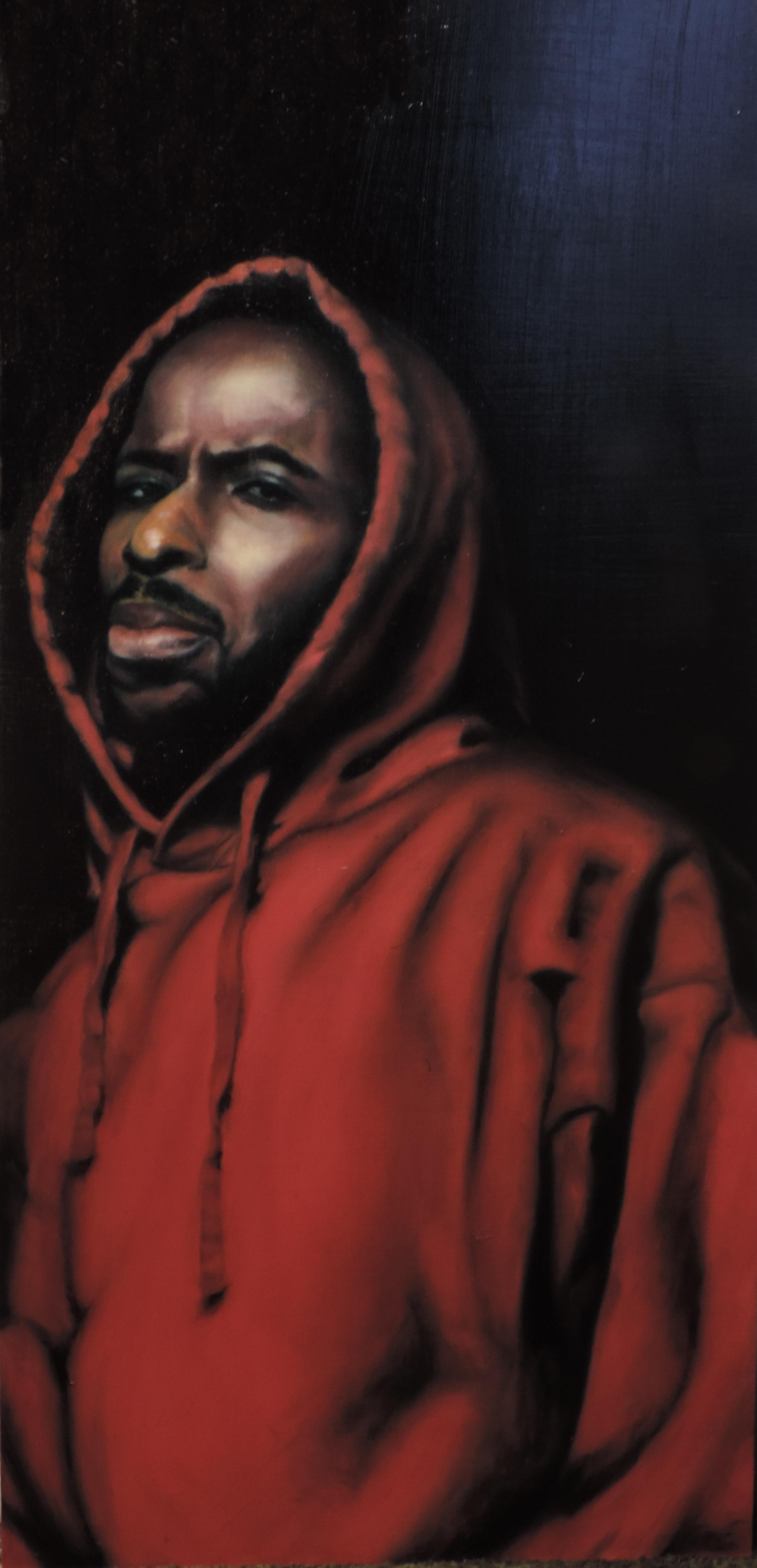 The Preacher, 2015. Oil on Panel. 4ft x 2.5ft