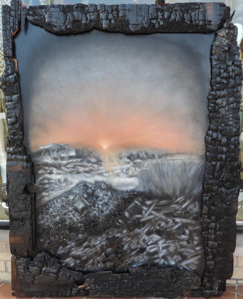 Speramus Meliora, 2015. Oil on panel. 4ft x 3ft