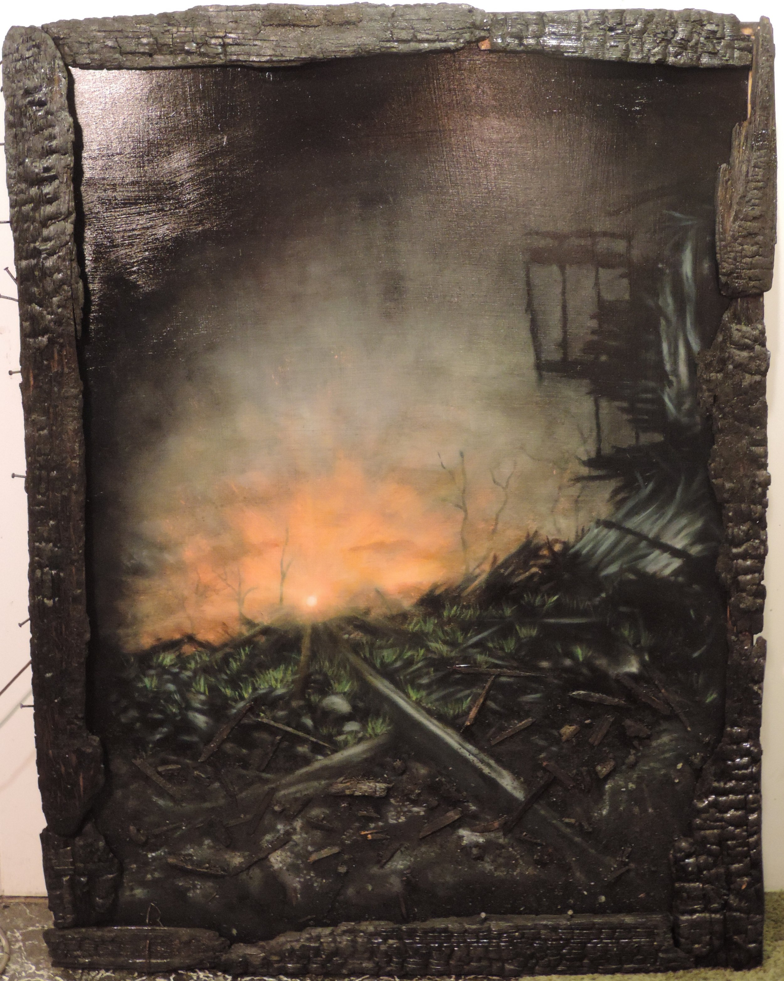 Resurget Cineribus, 2015. Oil on panel. 4ft x 3ft