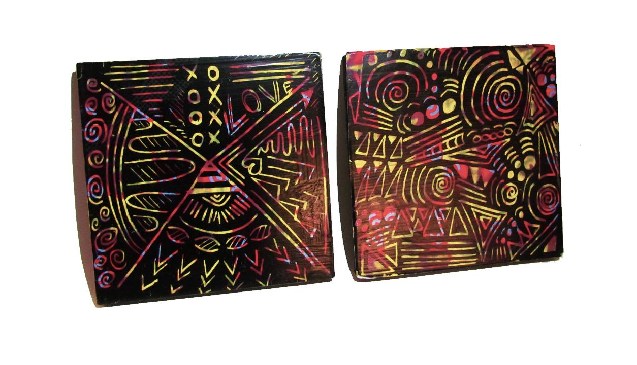 Scratch Art Coasters