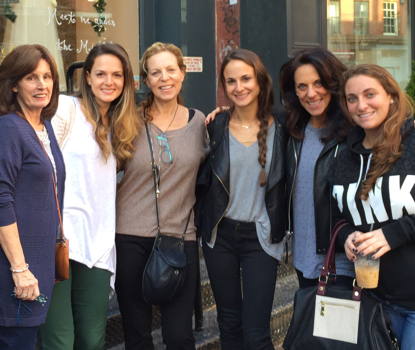 My beautiful mother-in-law, mom, sister, aunt, and cousin on shopping day