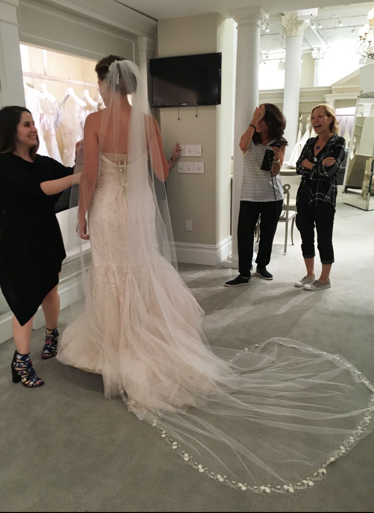 "The memorable moment I ""said yes to the dress..."" and ""no"" to the other one"