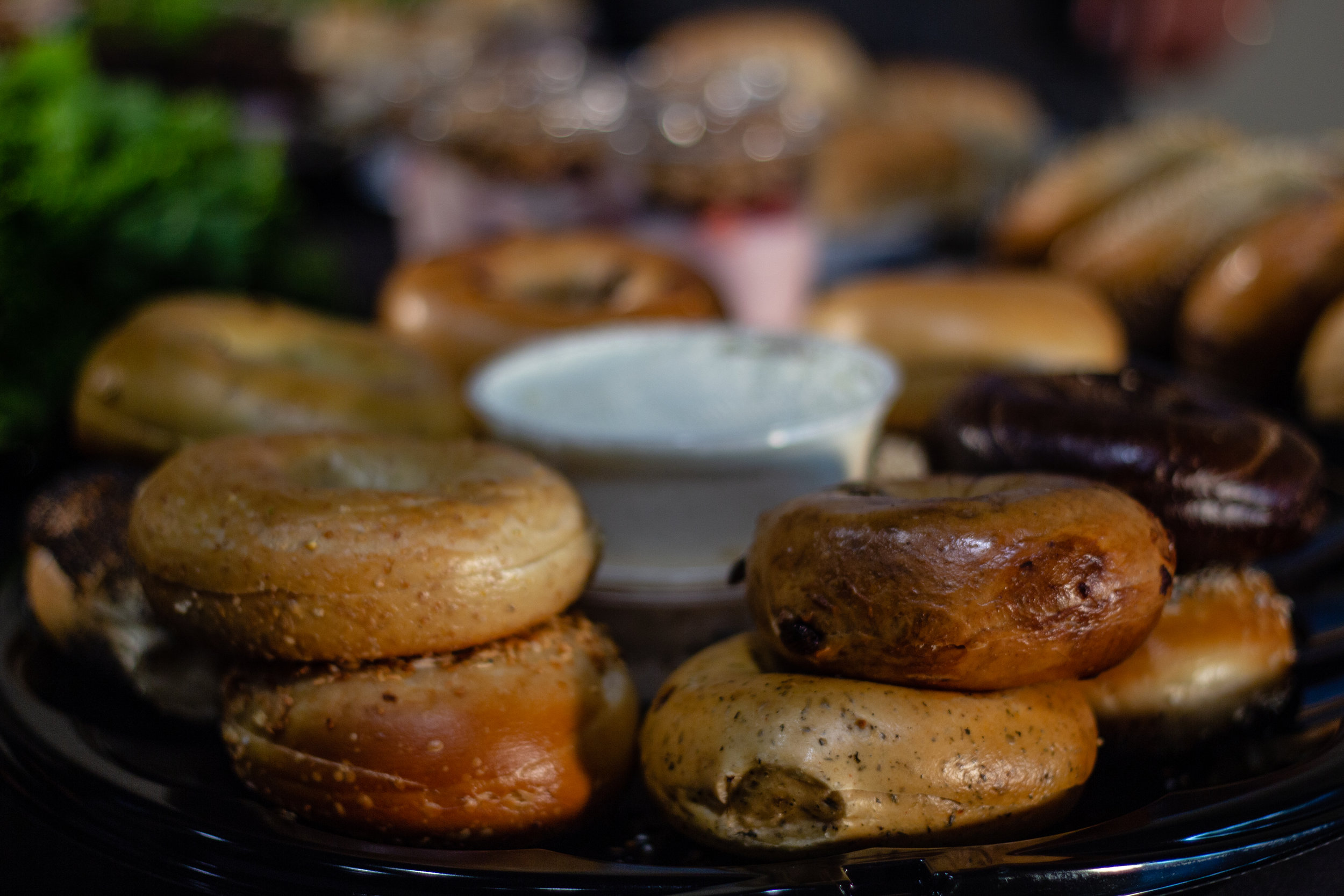 18 tasty bagel flavors to choose from and tons of cream cheese options!