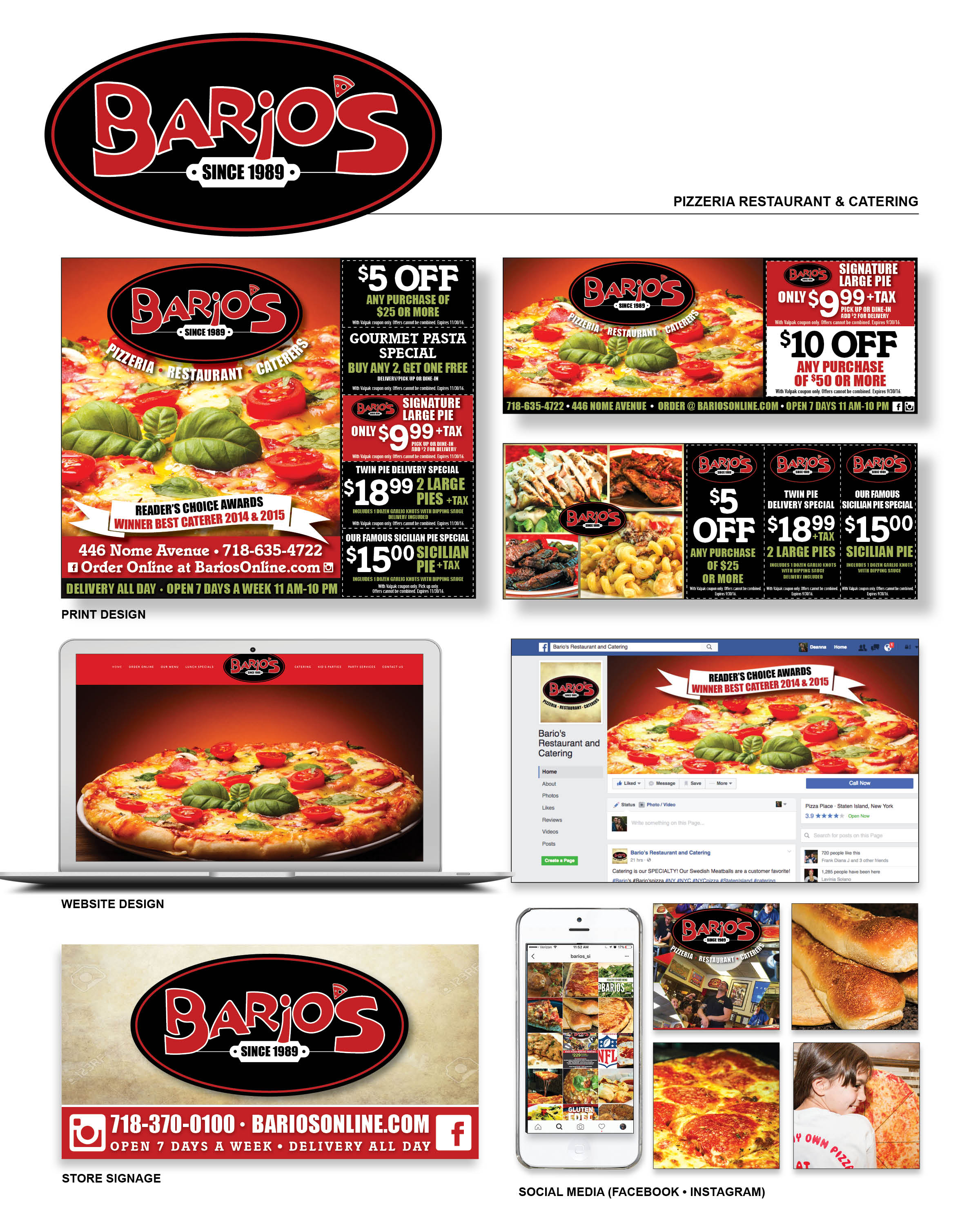 Bario's Pizzeria Restaurant & Catering - Powered by Valpak