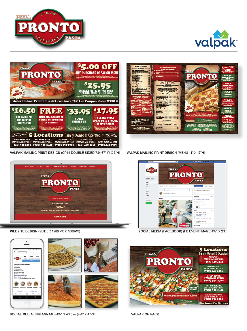 Pronto Pizzeria - Powered by Valpak