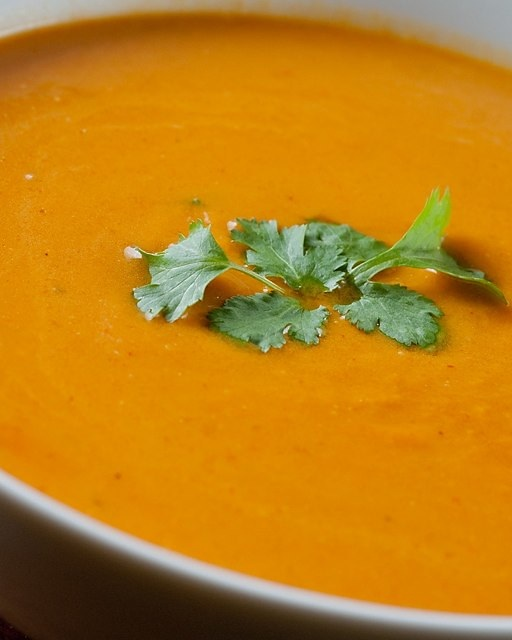 """This is my favorite butternut squash soup recipe. It's brightened by the addition of the orange juice. Vegan and low fat!"" -"