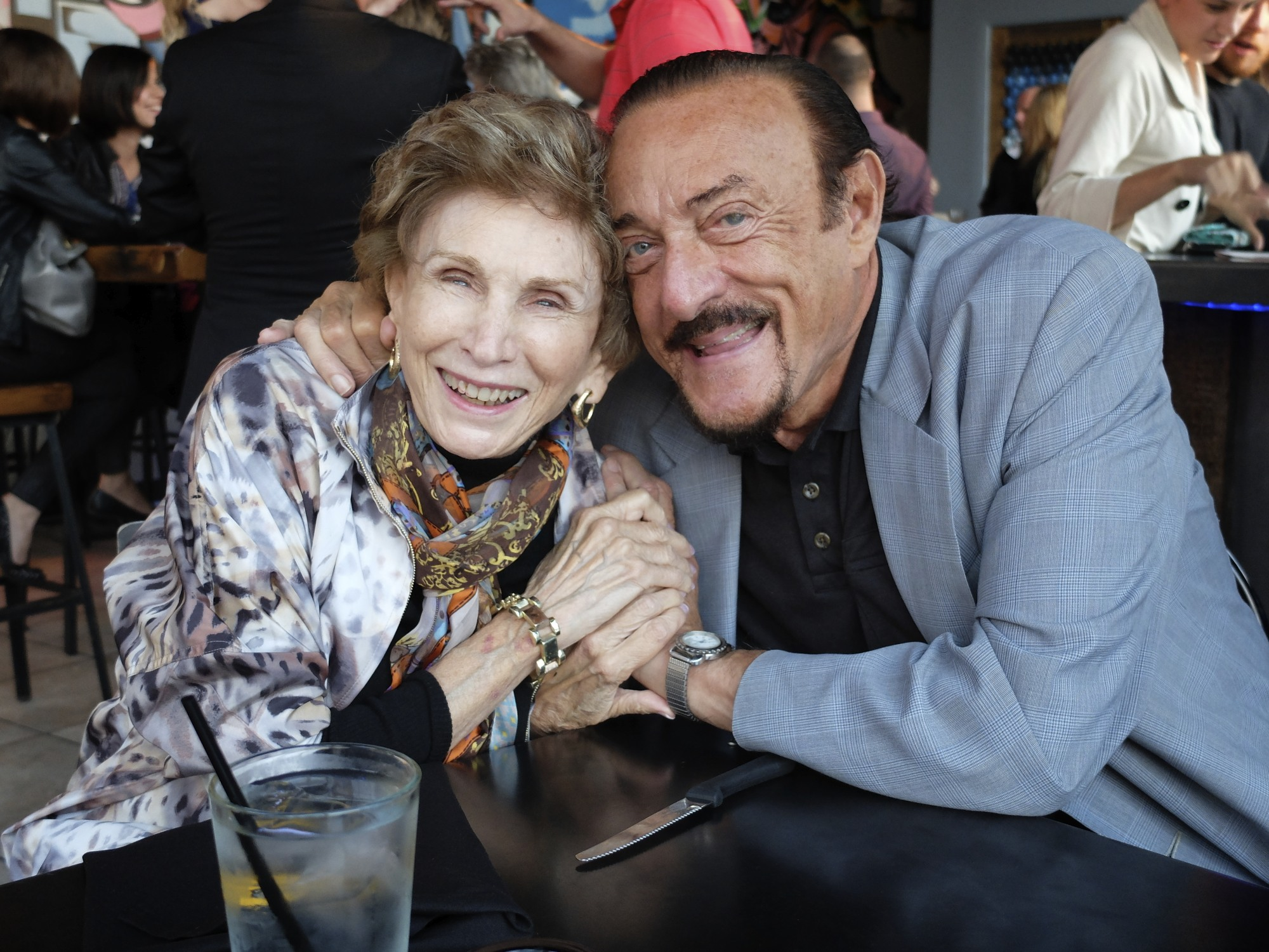 Phil Zimbardo and Edith Eger at the 2014 Hero Round Table Michigan.