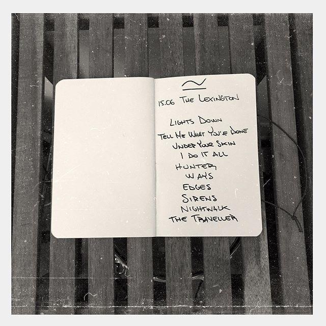 -1 🔥 #setlist #thelexington