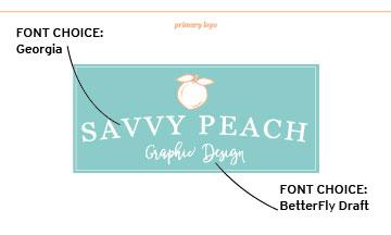 Savvy Peach Logo - Final