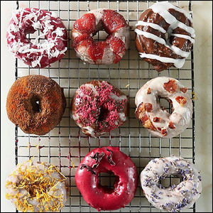 Circa doughnuts reimagines the doughnut for gluten free fans. With flavors redolent of hibiscus and berry or maple and bacon, these doughy treats are just like the originals.  Read the article.