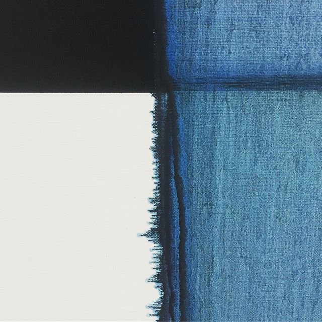 Exposed Painting Delft Blue, 2018 Callum Innes #CallumInnes @inglebygallery