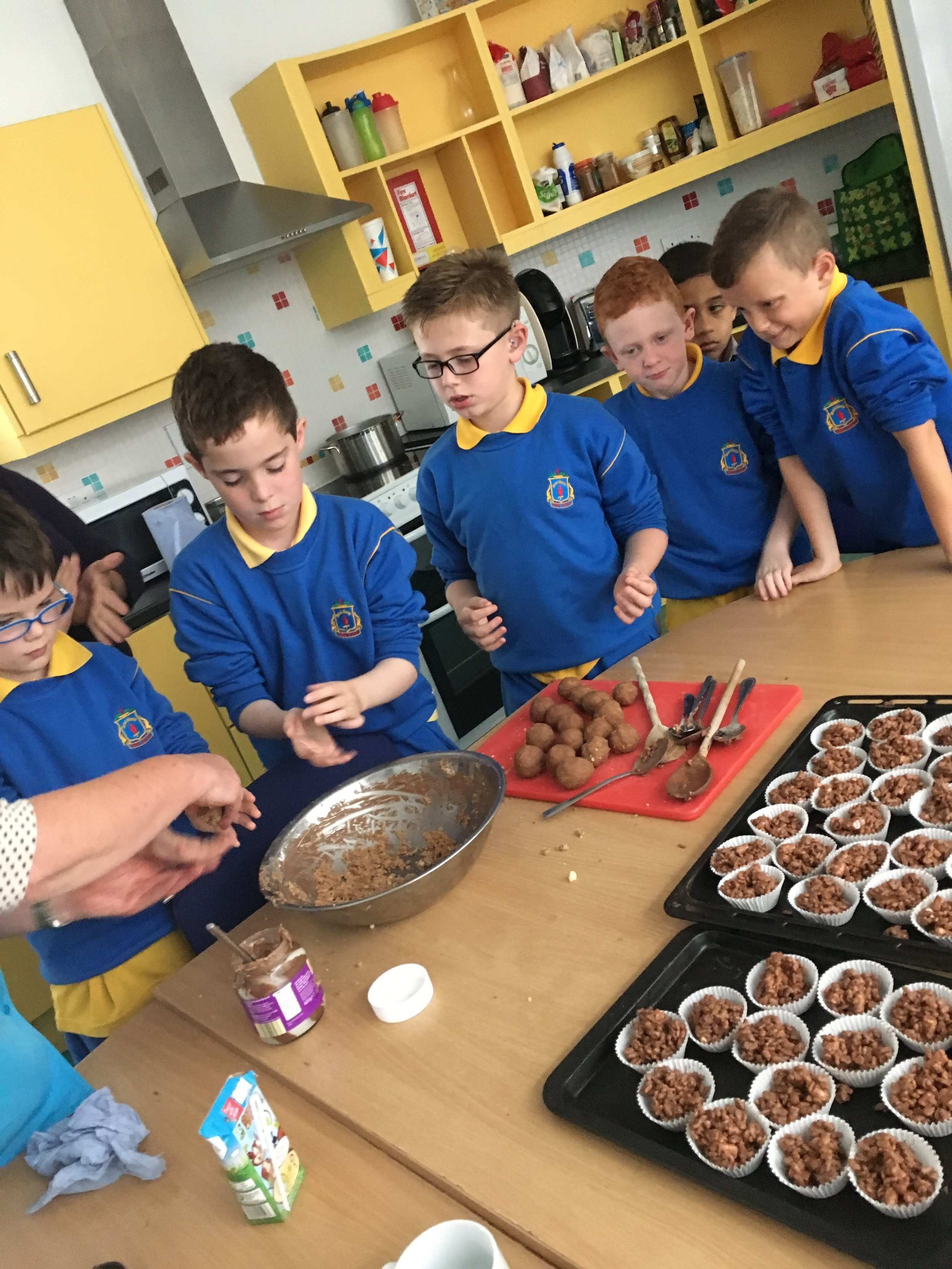 Making cakes for the coffee afternoon