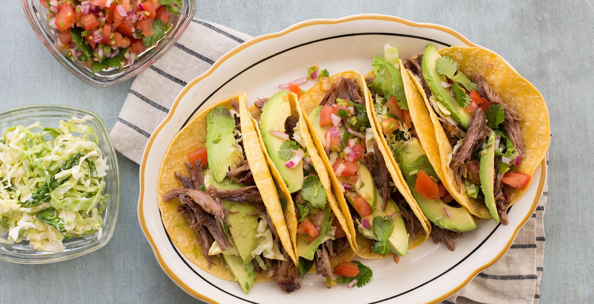 Blueberry Sauced Pork Shoulder Tacos