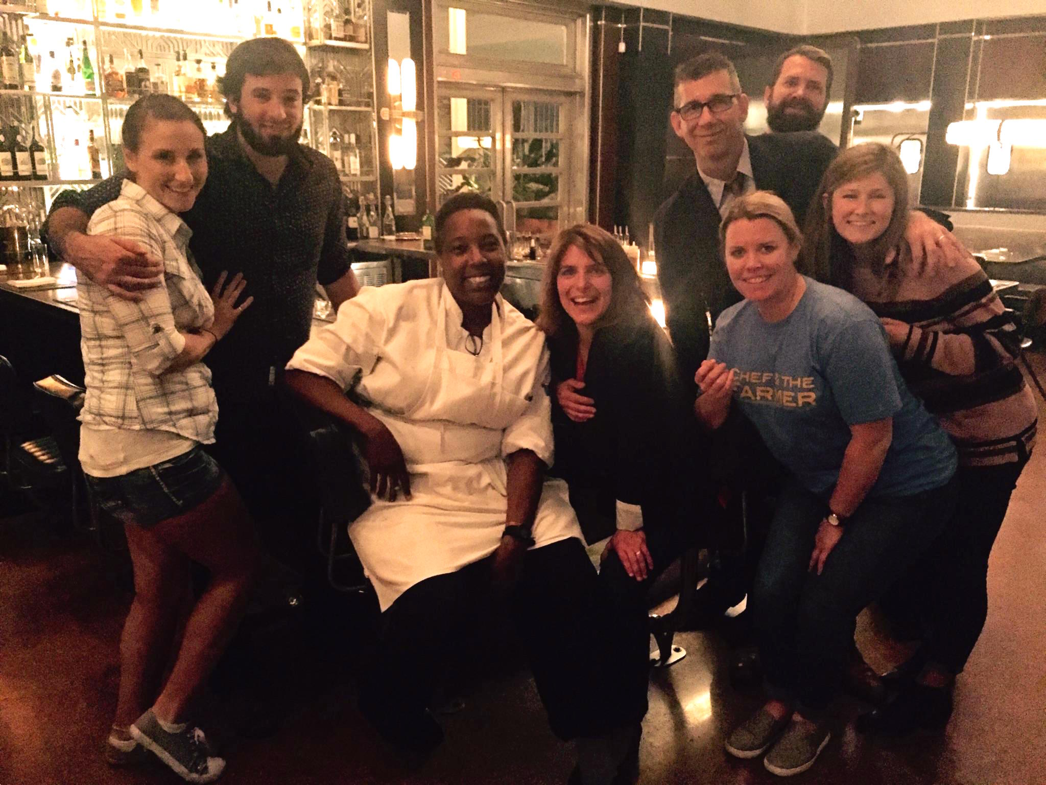 Team Georgia at The Grey in Savannah. Chef Mashama Bailey in the center.