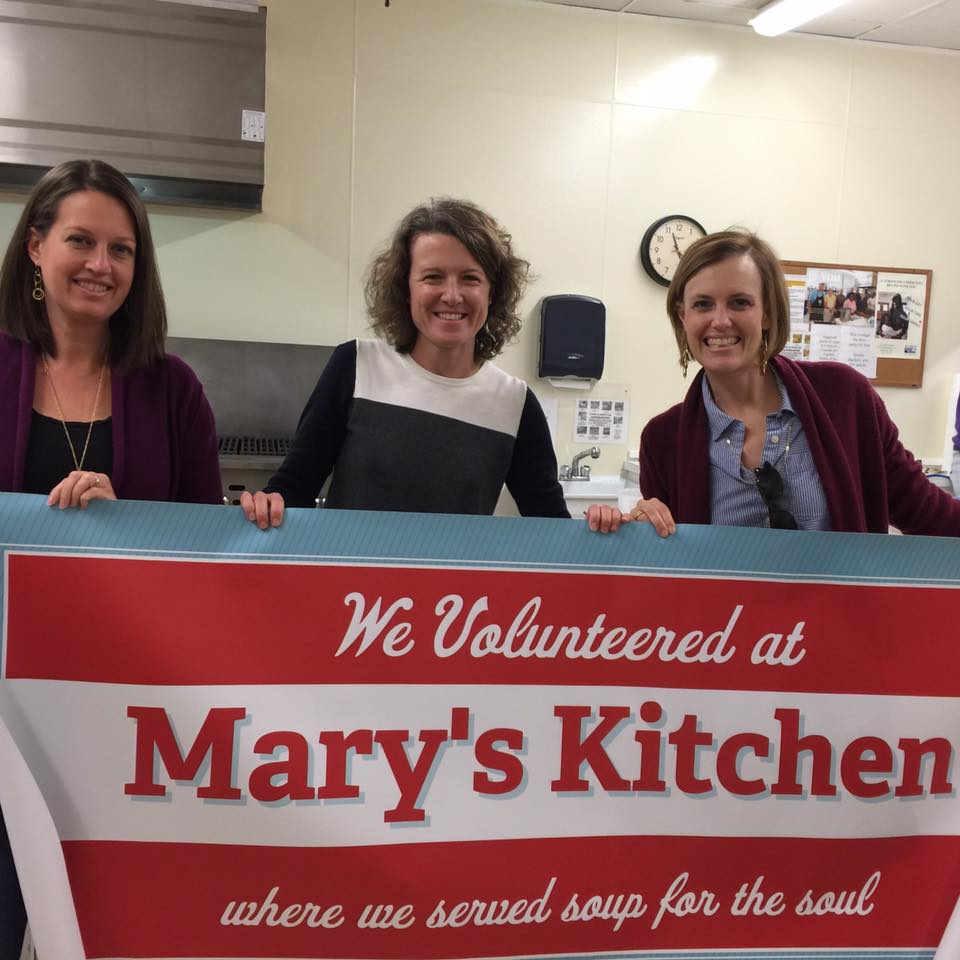 Meredith Swindell, Mary Beth Free, and Karen Boyle from Church of the Good Shepherd