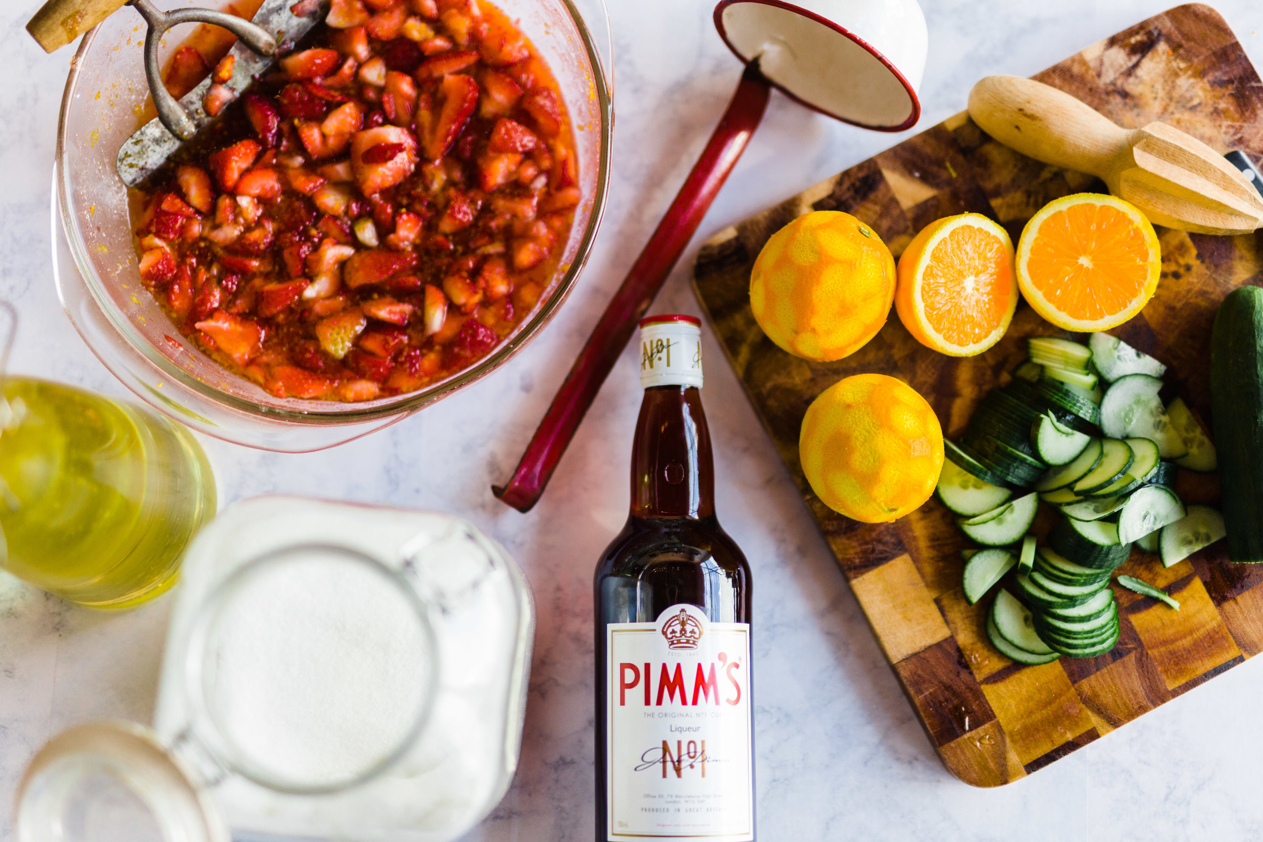 vivian howard recipes strawberry pimms punch photographs by baxter miller