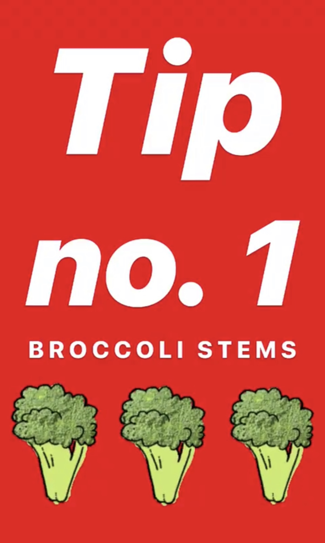 If you're not using the whole broccoli, you're doing it wrong. - The stems are the good stuff!