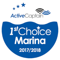 We are proud to be a 1st Choice Marina rated by Active Captain!
