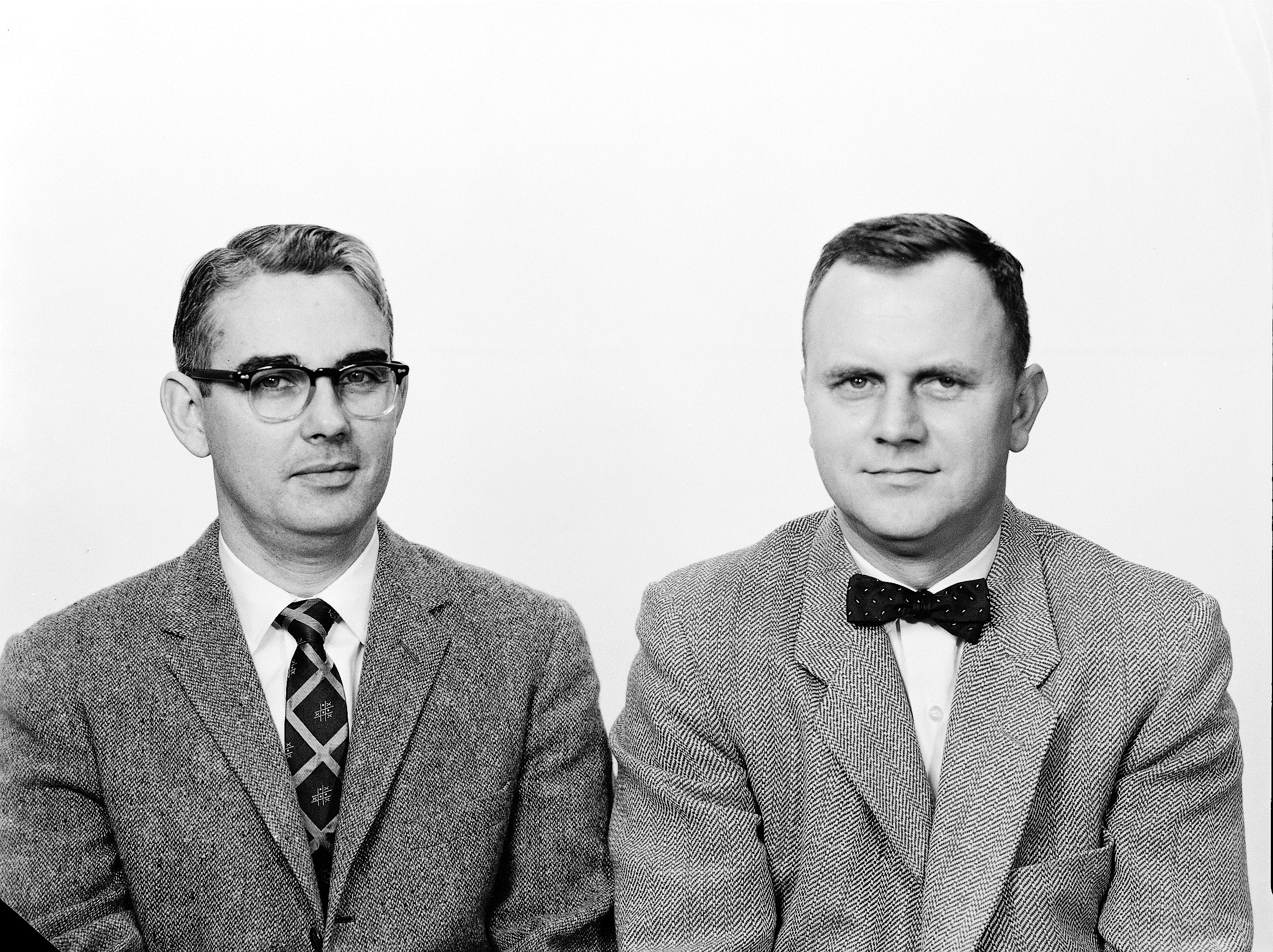 Renal-Metabolic Clinic founders Dr. William Daeschner and Dr. George Clayton. (Photo courtesy of Baylor College of Medicine)