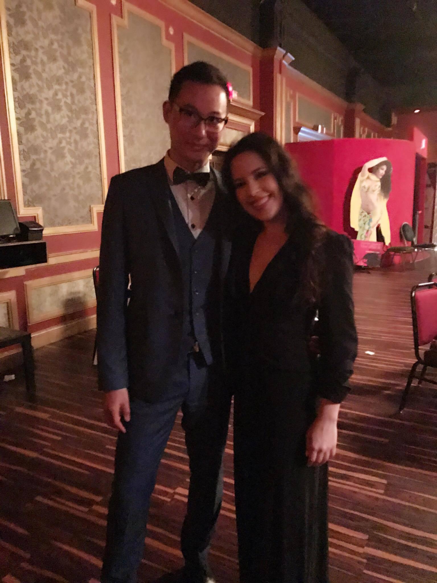 With Leon!