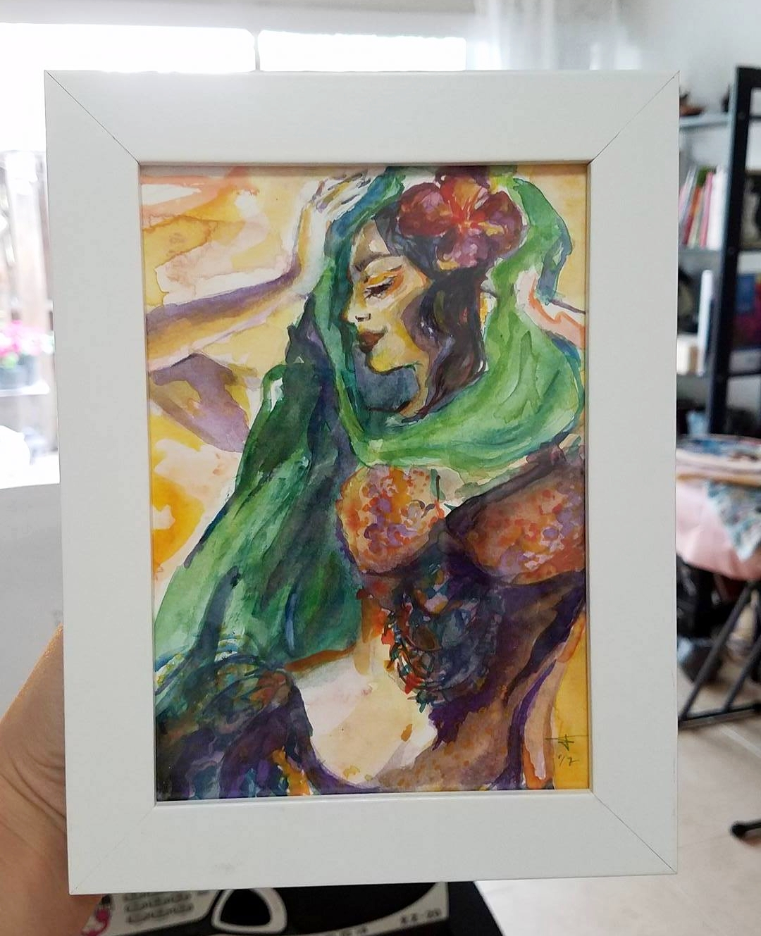 A small watercolor for a Patron! Yey! She donated towards my educational trip to Lebanon this year (my first trip to the Middle East!) where I'll be taking workshops with several master instructors.