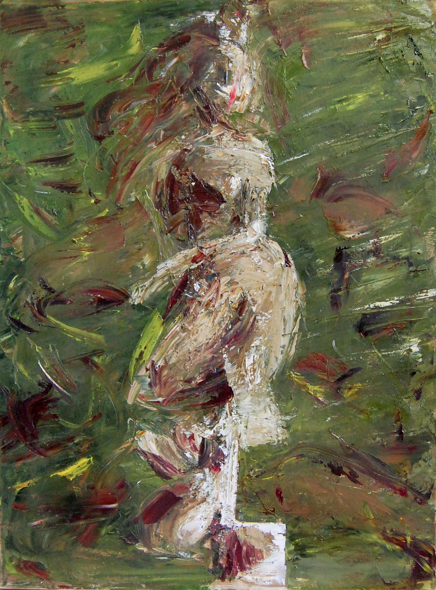 Nature-ous dancer, Moss and Flowers,  2012   Oil on canvas