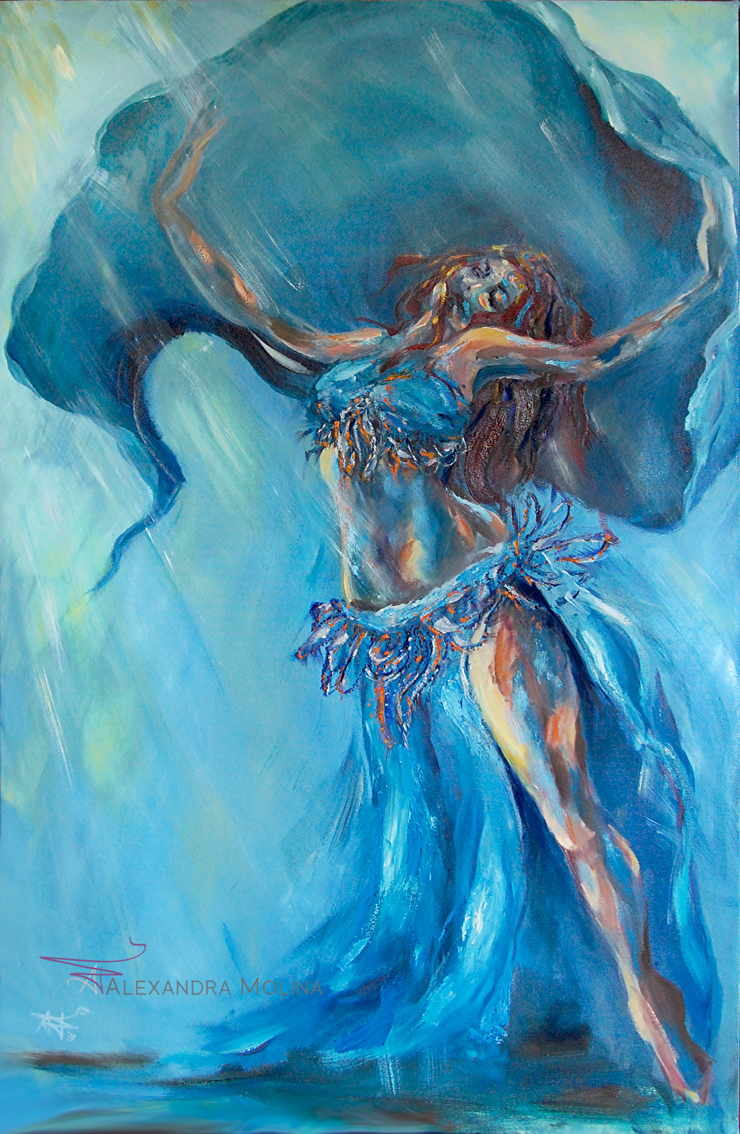 Moment of Bliss,  2013   Oil on canvas  Sold - Commission