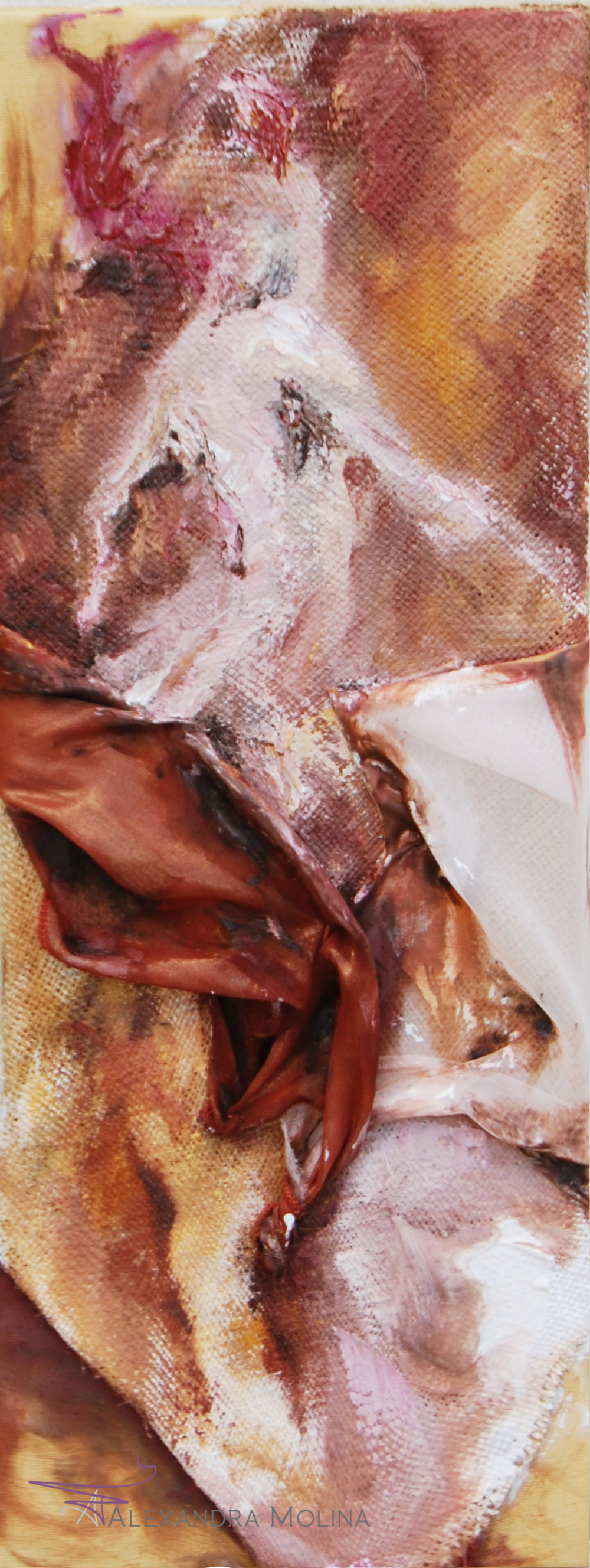 Rose Coquette, 2012    Oil on fabric sewn together  Private Collection