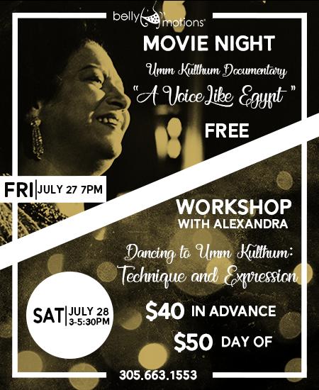 Alexandra Umm Kulthum Weekend Flyer