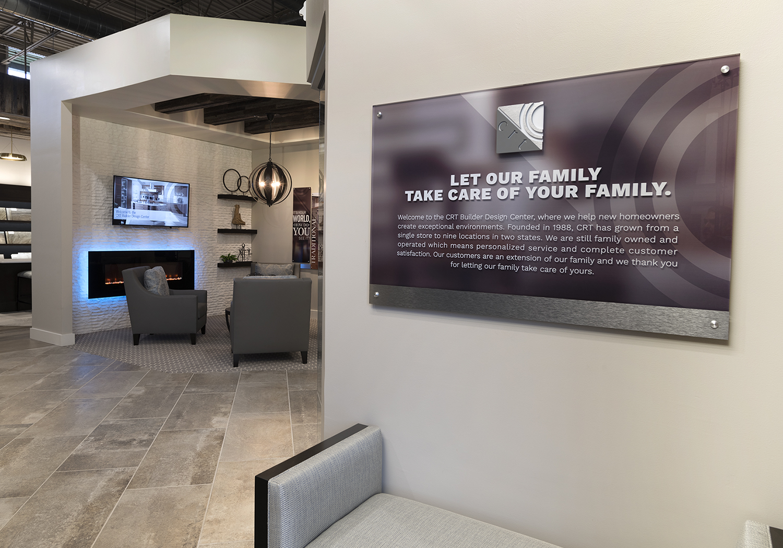 Introduction Sign for Design Center, Retail, San Antonio