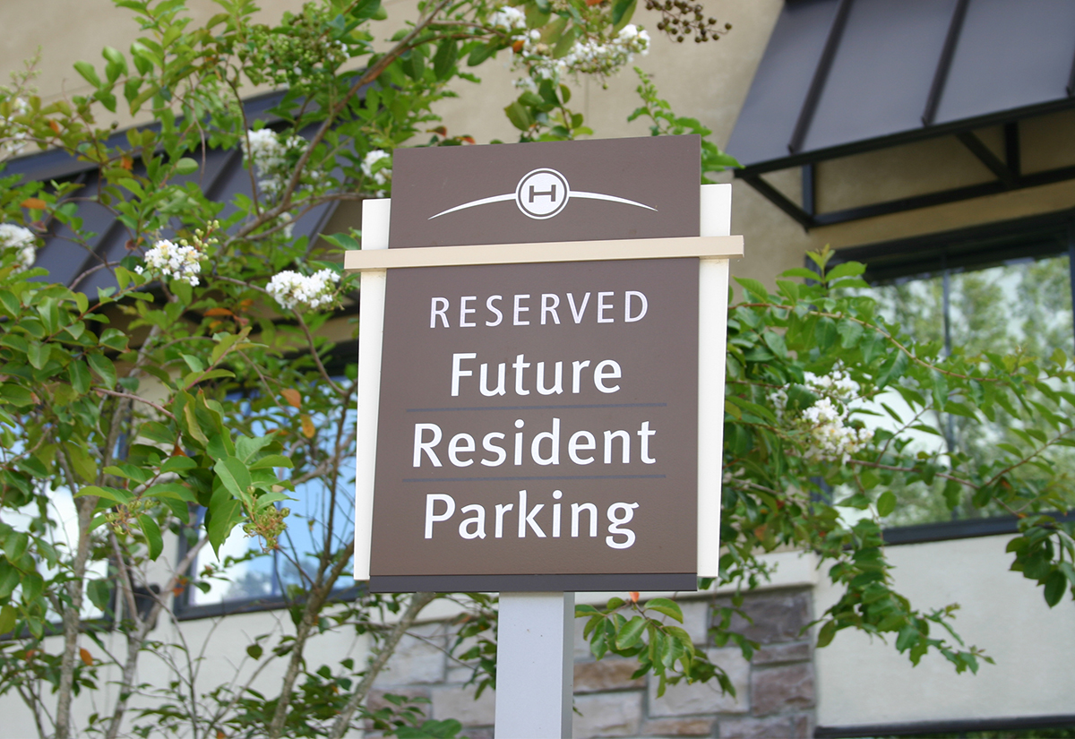 Residential Parking Sign in Houston