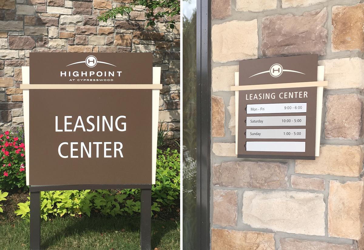 Residential Leasing Sign in Houston