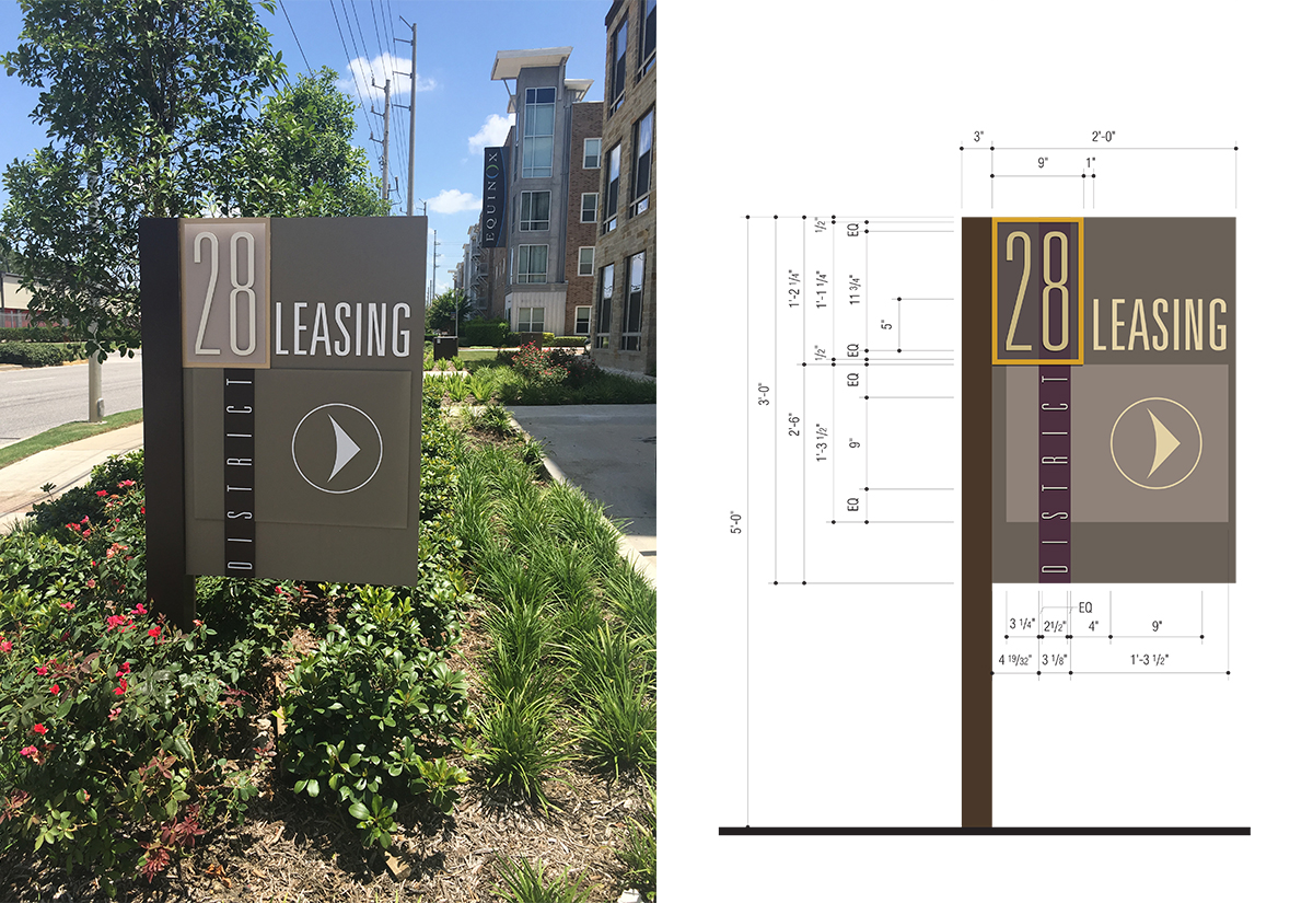 Residential Directional Sign in Houston