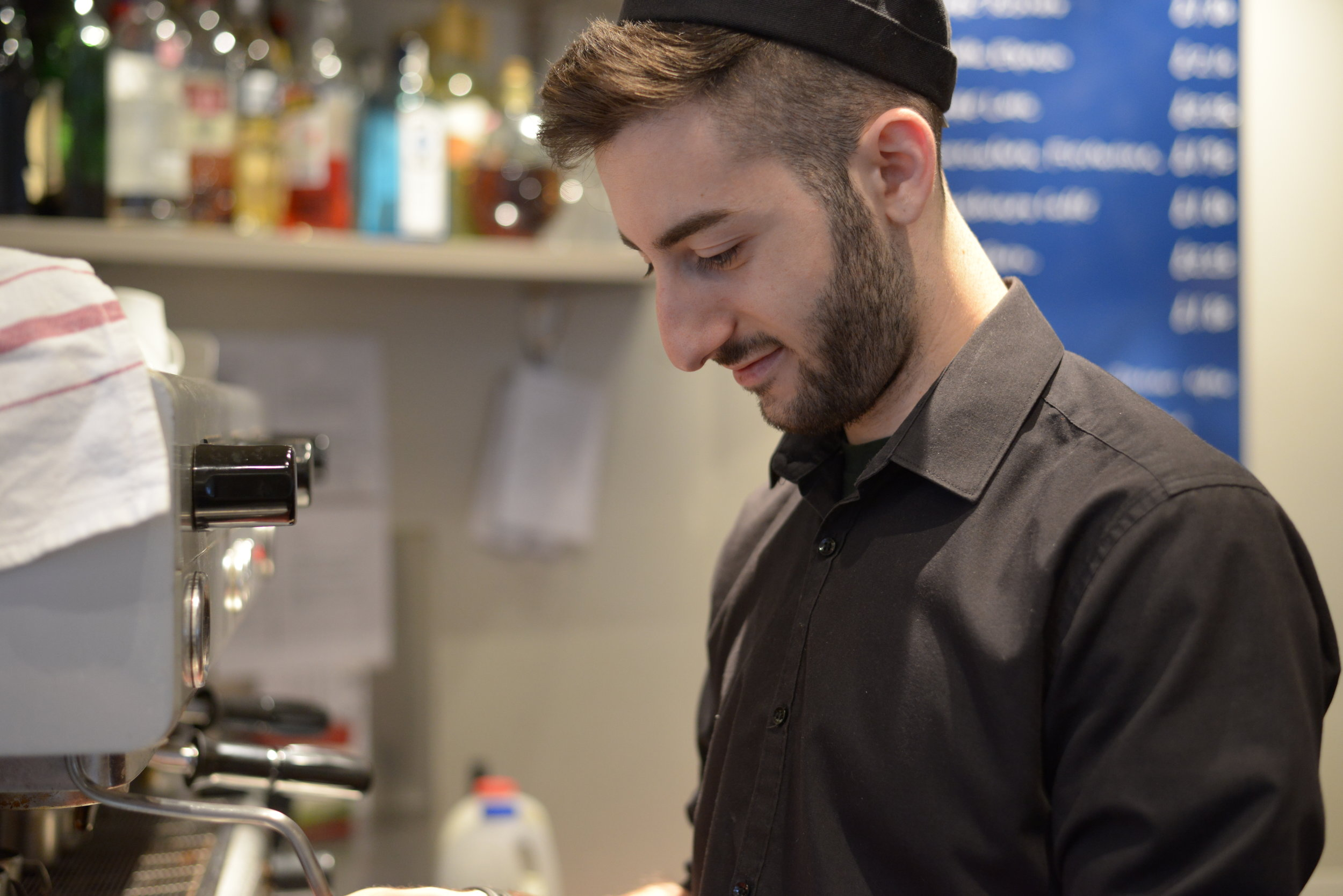 Portrait of barista at work