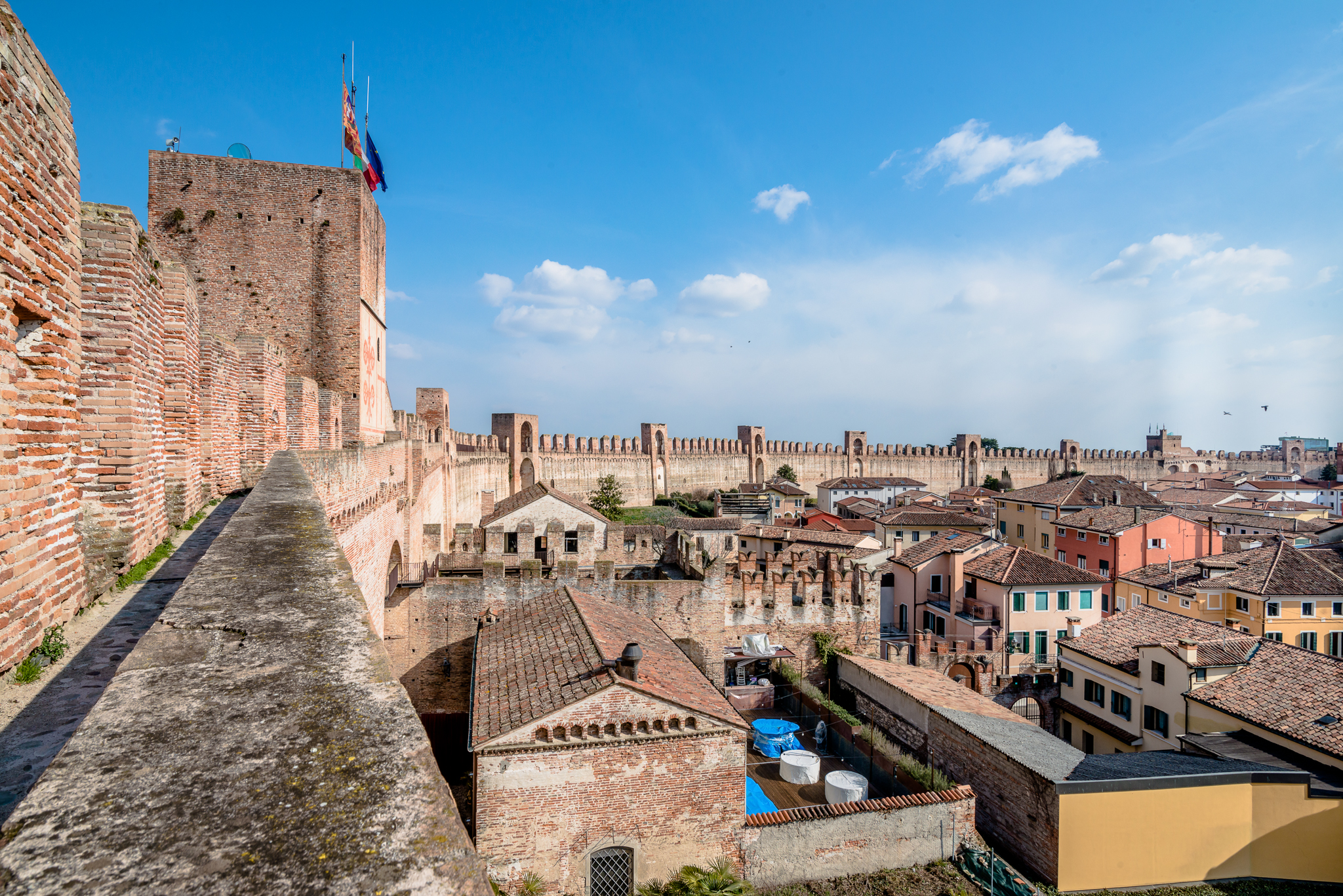 View from the medieval walls at Citadella center